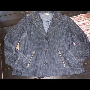JM collection jean blazer Sz 18
